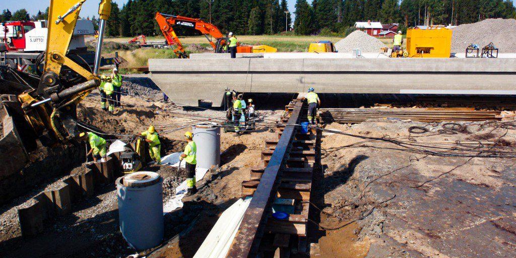Seinäjoki Oulu ratatyömaa